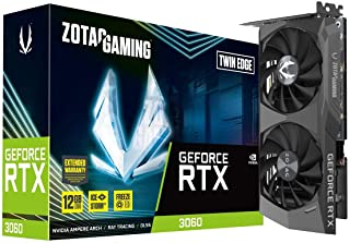 Zotac Gaming GeForce RTX 3060 Twin Edge 12GB GDDR6 192-bit 15Gbps PCIE 4.0 Gaming Graphics Card, IceStorm 2.0 Cooling, Con...