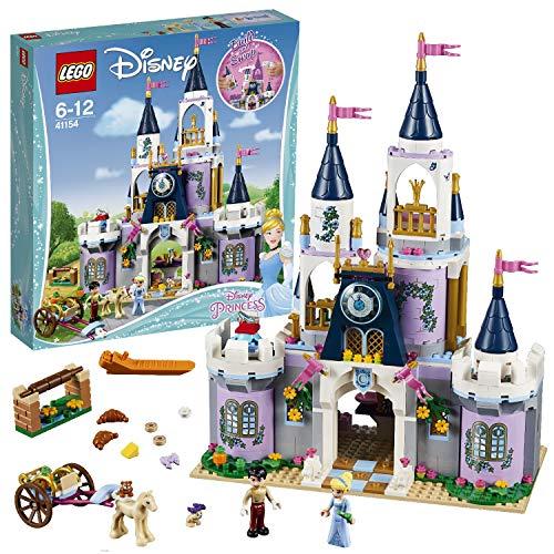 LEGO 41154 Disney Princess Cinderella's Dream Castle Toy, Fairytale Doll House, Prince Charming & Cinderella Mini Doll