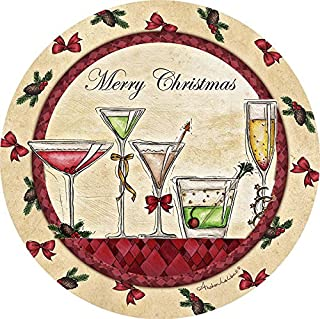 Thirstystone Stoneware Coaster Set, Merry Christmas Cocktails