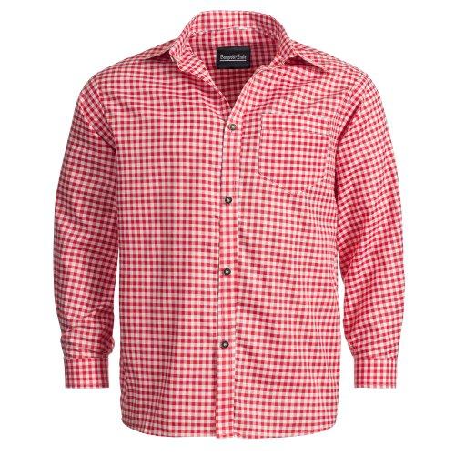 Bongossi-Trade Trachtenhemd für Trachten Lederhosen Freizeit Hemd rot-kariert XXXL