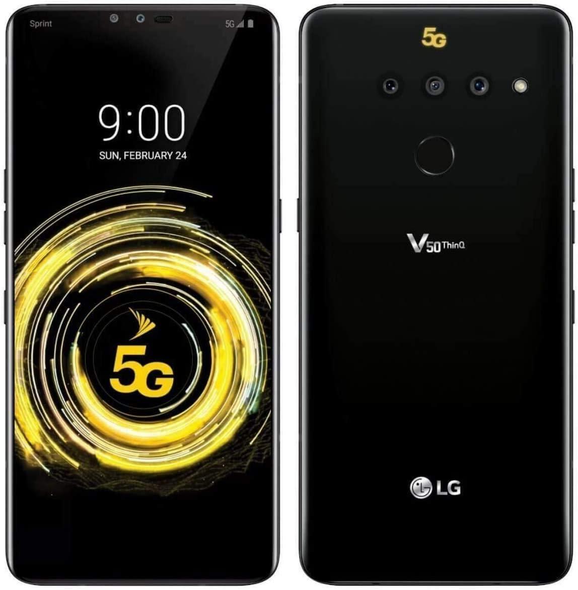 LG Max 52% OFF V50 ThinQ 5G 128GB LM-V450 Sp Black Cash special price Renewed Smartphone