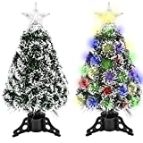 GEX 2020 Christmas Tree Prelit 2ft Mini Small Tabletop with Lights Multi-Color Artificial...