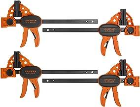 "Jorgensen 6"" Spreader/Bar Clamp Set, 4-pack,One-Hand Light Duty E-Z Hold Clamp/Spreader, 99216A"