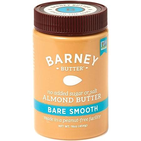 BARNEY Almond Butter, Bare Smooth, No Stir, No Sugar, No Salt, Non-GMO, Skin-Free, Paleo, KETO, 16 Ounce