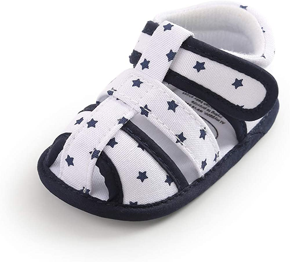 Baby Boys Girls Sandals Soft Sole Summer Infant Crib Shoes Lightwight Toddler Prewalker Outdoor Walking Shoes