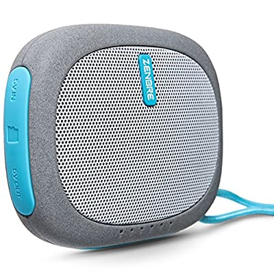 Portable Speakers, ZENBRE D3 mini Wireless Bluetooth Speaker with 20 Hours Play Time, Power Bank and Support TFcard (Blue) by
