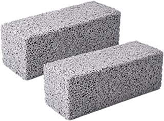 2 Pack Grill Cleaning Brick Block - JUFEN Grill Stone/Griddle Cleaner Block -Toxic Odorless Grill Stones Cleaner - Remove ...