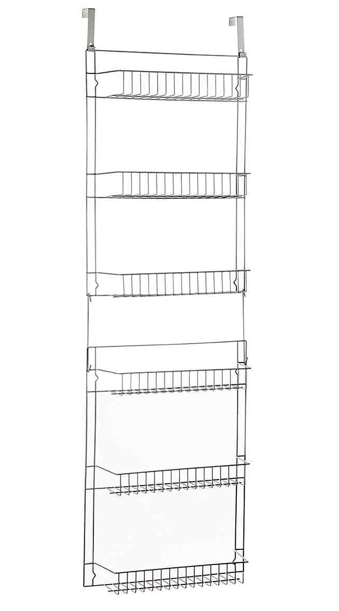 どこ導入する細菌JOYFUN ドア上収納棚 キッチンパントリーラックオーガナイザー スパイススペース節約 6段