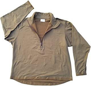 USMC Genuine Issue Coyote Brown Grid Fleece Quarter Zip Pullover