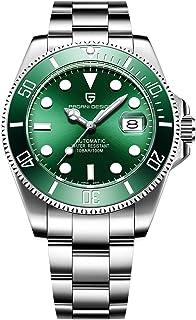 Orologio da polso automatico da uomo, meccanico, in acciaio inossidabile, alla moda, stile casual o per lavoro, analogico