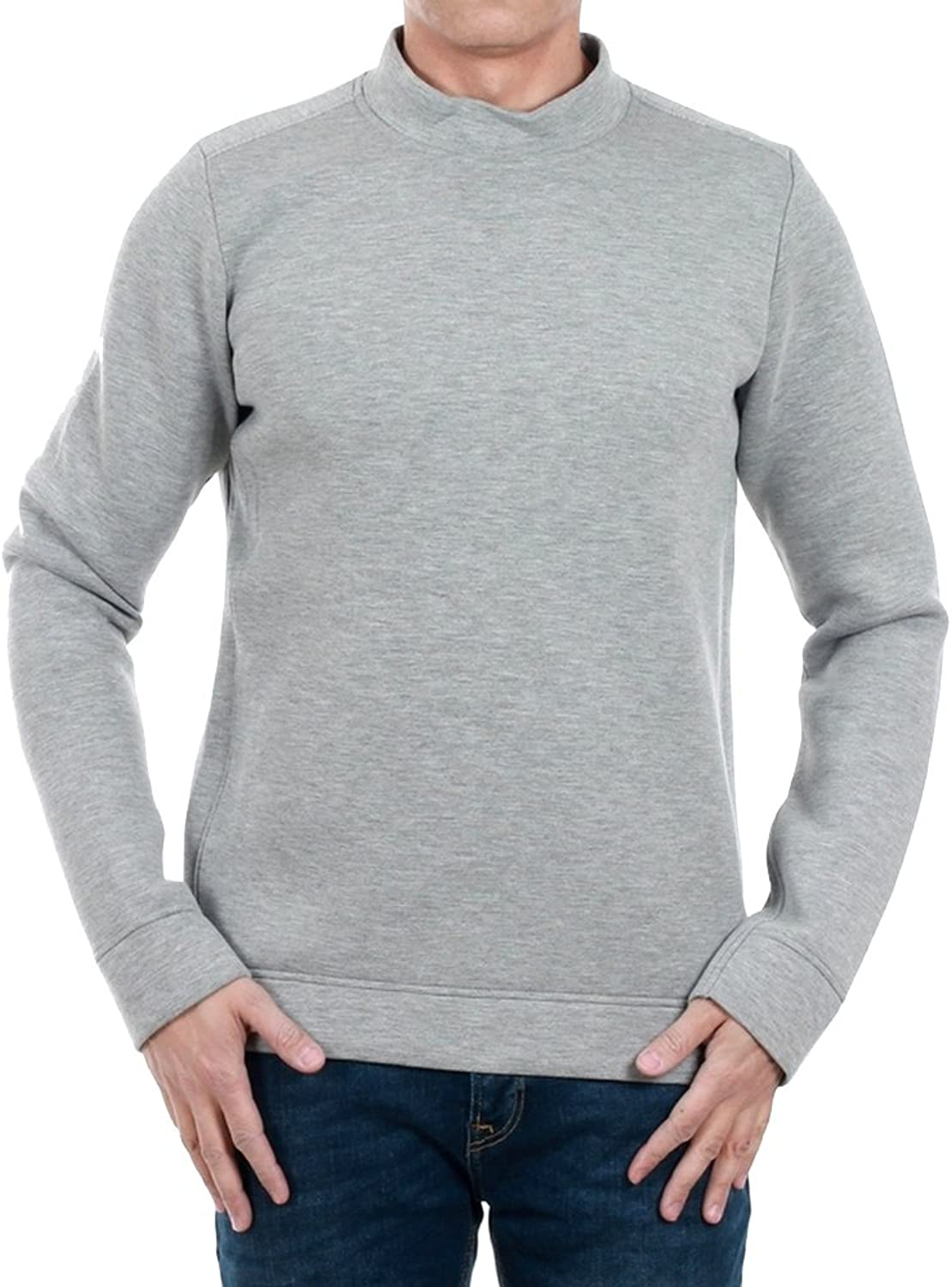 JACK & JONES Sweatshirt Herren Langarm Grau 12137128 JPRMAROON Sweat Crew Neck FW37 Light grau Melange