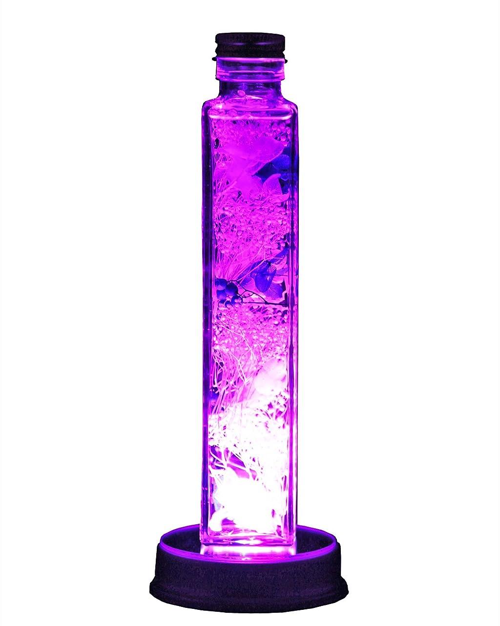 隙間香り素晴らしいですアートフォーシーズン LEDハーバリウム プリザーブドフラワー (パープル)