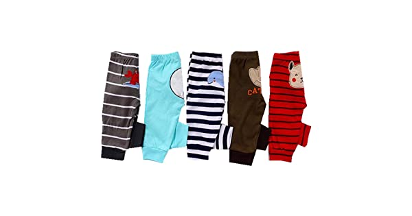 Alsmiley Baby 2-Pack Cotton High Waist Long Pants Pajama Comfortable Leggings,100/% Cotton