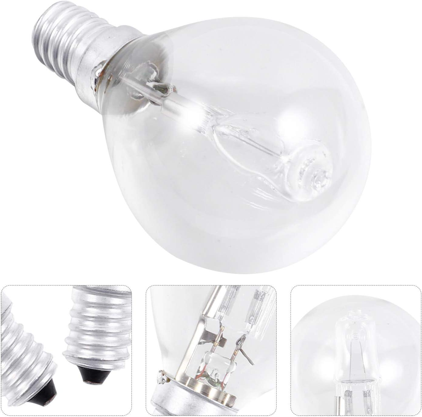 SOLUSTRE 2Pcs E14 Ampoules de Four /à Micro-Ondes Ampoules /à Haute R/ésistance /à Haute Temp/érature Ampoules /à Incandescence Tubulaires Ampoules de Remplacement pour Appareils de Cuisine