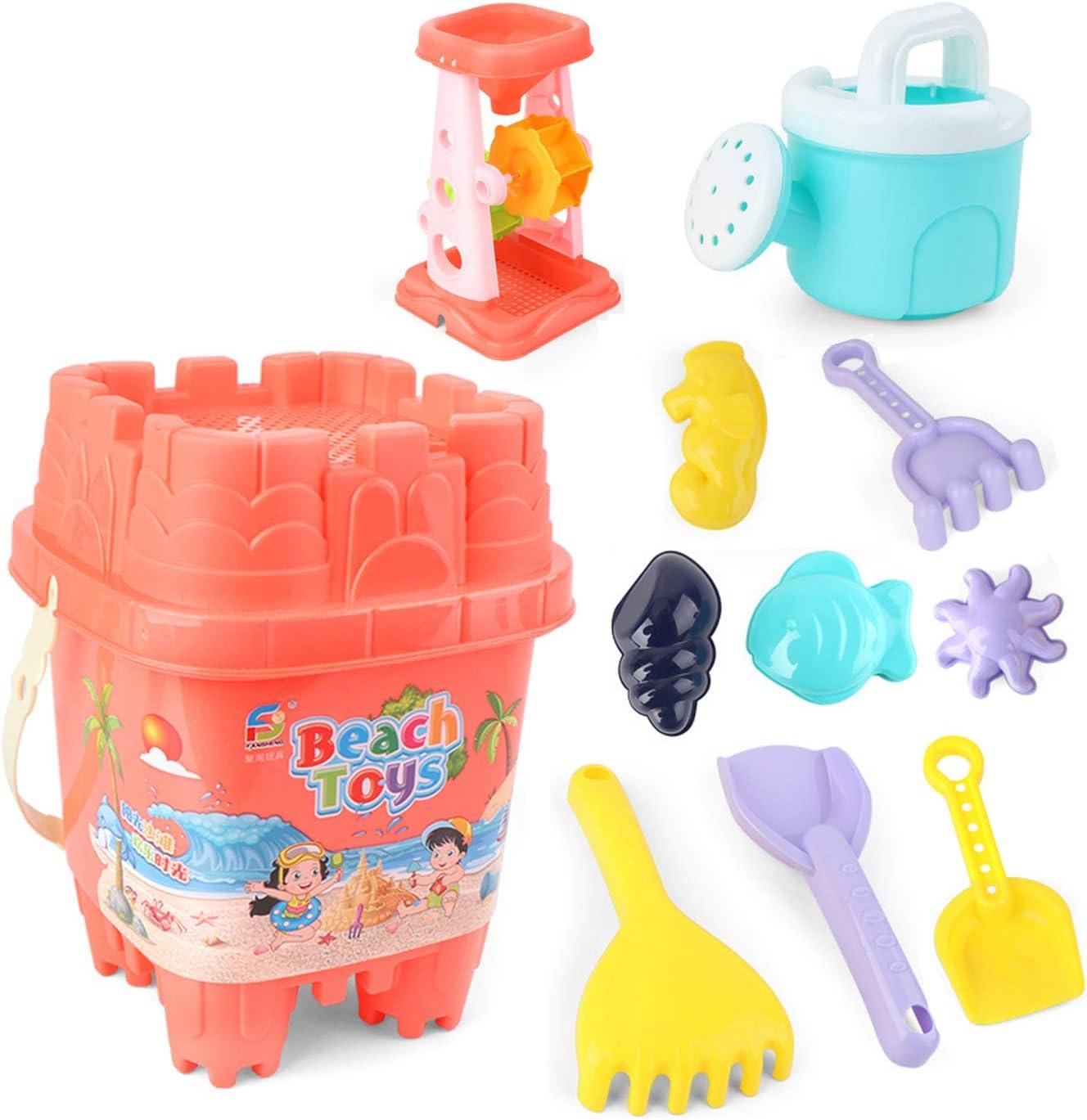 KELEQI Kids Beach New Free Shipping Sand National uniform free shipping Box Water Sandpit 11 Toy pcs Crane T