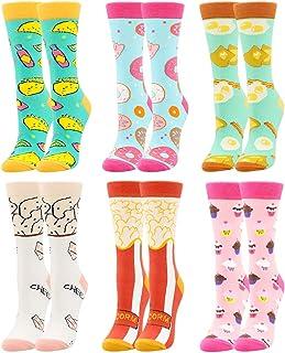 BONANGEL Calcetines Divertidos para Mujer, Calcetines de Animales, Novedad Bonita, Calcetines de Fantasía Coloridos Algodó...