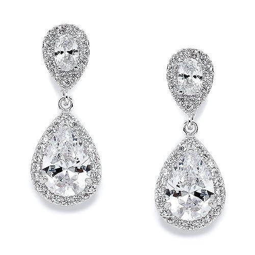 Bride Earrings Amazon Com