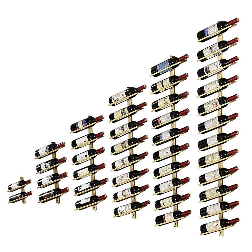 からに変化するカレッジトンワインホルダー 吊り下げ ウォールワインラック、赤、白、シャンパン、ホーム&キッチンの装飾収納ラックディスプレイ、ウォールマウントワインボトル 収納ラック