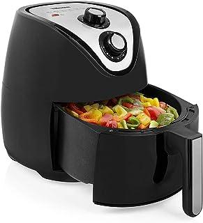 Friteuse à air chaud avec 3 accessoires – Friteuse à chaleur tournante sans graisse ni huile, 4,5 l, 1500 W