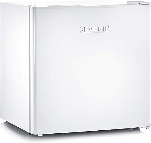 SEVERIN Mini Réfrigérateur Mini Bar, Pose libre, Largeur 48 cm, 45L, Porte réversible, Classe E, 80 kWh/an, 40 dB, Bl...