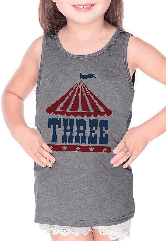 7 ate 9 Apparel Kids Three Birthday 3 Circus Third Bday 3rd Carnival Grey Tank Top