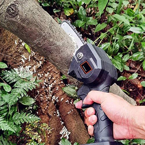 CHAINSAW Mini Motosierra, Mini Motosierra de Litio Recargable de 4 Pulgadas, Mini Motosierra eléctrica inalámbrica para Corte de Madera de Rama de árbol de Patio