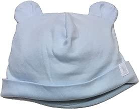 Ralph Lauren Baby Boy Bear-Ear Cotton Interlock Hat Beryl Blue One Size