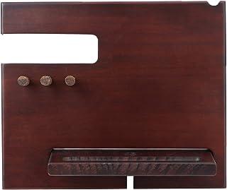 Hemobllo Drewniany stojak na telefon biurkowy wielofunkcyjny uchwyt na tablet kołyska biżuteria stojak na telefon komórkow...
