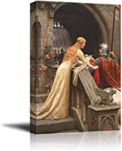 """Canvas Prints Wall Art - God Speed by Edmund Leighton - Canvas Print Wall Art Famous Painting Reproduction - 12"""" x 16"""""""