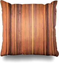 Ahawoso Throw Pillow Cover Plank Brown Wall Old Wood Panels Abstract Timber Exterior Floor Grain Retro Design Nature Decorative Pillowcase Square 18x18 Home Decor Zippered Cushion Case
