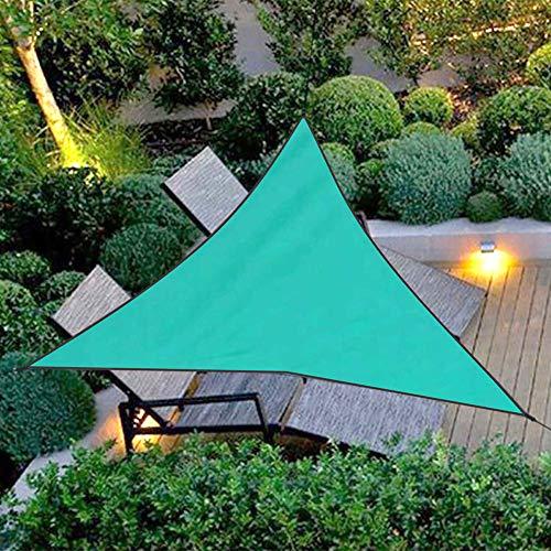 LCZHP Summer Sun Sail Shade, 4 * 4 * 4 m (13.12 * 13.12 * 13.12ft) Trilateral Impermeable Cortina de Sun, Refugio Tela de la Pantalla para el jardín, el Patio, Coches,Verde