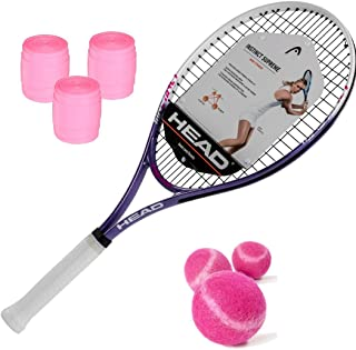 HEAD Ti.Instinct Supreme Women's/Junior Girl's Tennis Racquet Kit with Pink Tennis Balls and Pink Overgrip (Perfect Starter Set for Girls and Women)