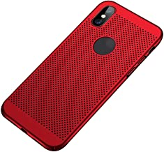 iPhone Xs Case/iPhone X Case, Ultra Slim/Thin Lightweight Breathable Cooling Mesh Case,Compatible with iPhone X/iPhone Xs 5.8 inch(red)