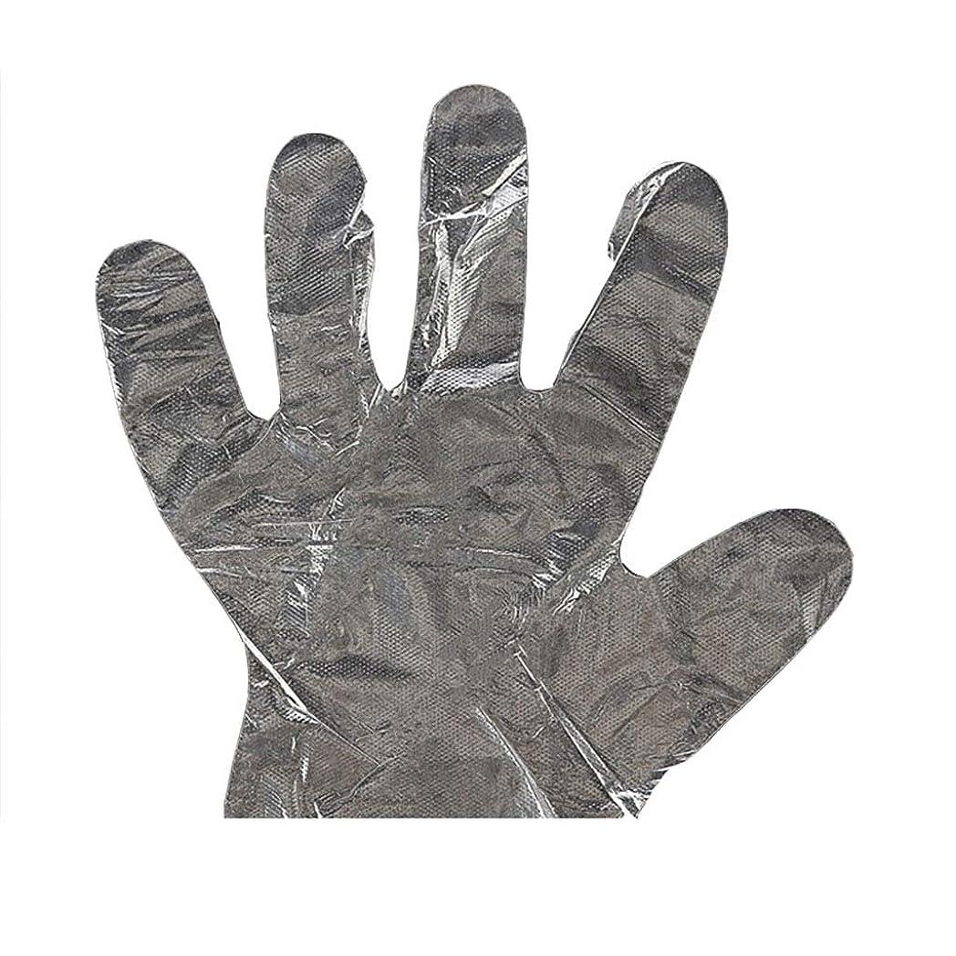 追う現れる小康手袋の使い捨て手袋PEの衛生的な食糧手袋100パッケージ