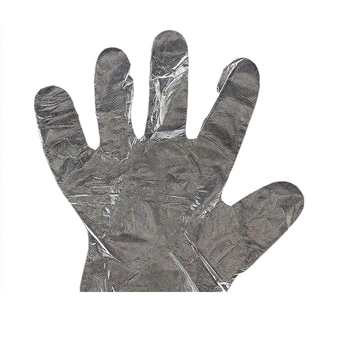 蒸留するレバーより平らな手袋の使い捨て手袋PEの衛生的な食糧手袋100パッケージ