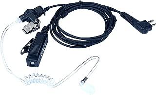 KEYBLU 2-Wire Walkie Talkie Earpiece/Headset PTT Mic 2 pin Surveillance Kit Mic Acoustic Tube Earpiece for Motorola CP200 CLS1110 CLS1413 CLS1450