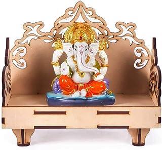 pranali enterprise Wooden Singhasan Temple for God, Laddu Gopal Sinhasan for Pooja Mandir, Singhasan for Diwali, Durga Poo...