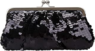 Kiss Lock Sequin Clutch Purses For Women Evening Bags And Clutches