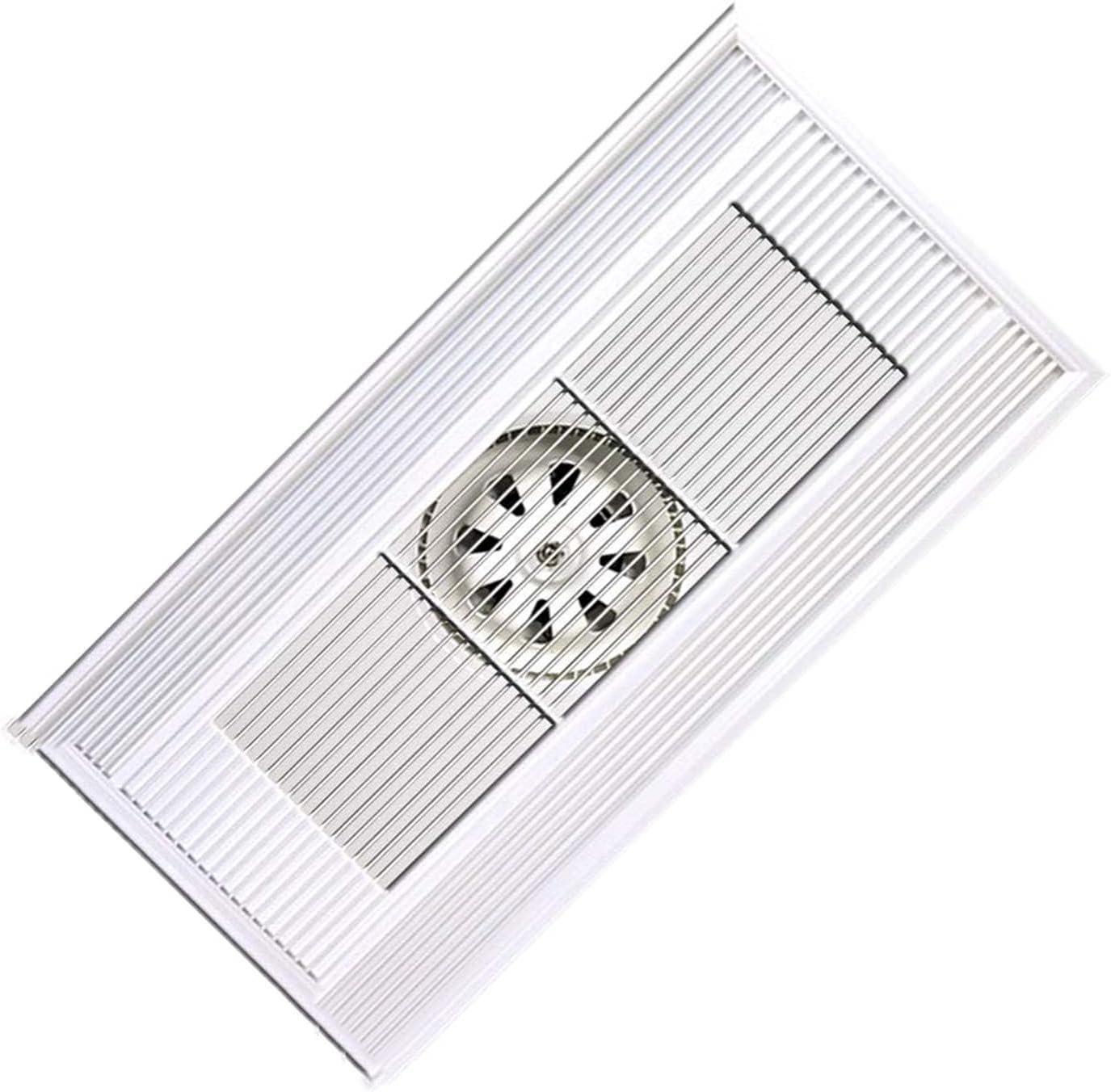 Ventilador extractor Ventilador integrado de ventilación de techo 30 × 6 0CM Ventilador de escape de alta potencia para la cocina Baño rectangular potente aleación de aluminio ventilador ventilador, 6