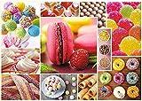 LREFON Puzzle 1000 Piezas Dulces, Postres, Galletas,Jigsaw Puzzles desafiantes Rompecabezas para Adultos/Infantiles