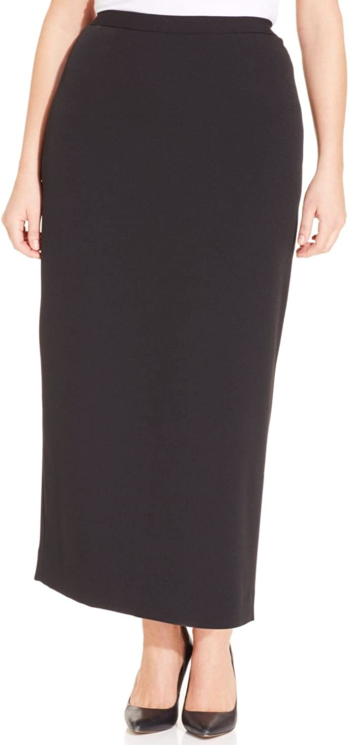 Kasper Women's Plus Size Solid Column Skirt
