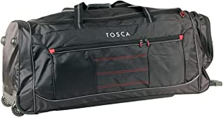 Tosca - TCA794TW/JA 90cm Jumbo Wheeled Duffle Bag - Black/Red