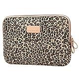 Baymate Unisex Tasche Mit Leopard Muster Macbooktasche Für 11.6-15 Netbook/Laptop/Notebook Computer 15 Zoll Leopard Braun