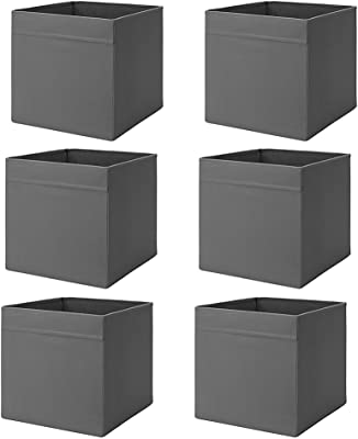 "Ikea Drona Box (Dark Gray, 6 Pack (L:15"" x W:13"" x H:13""))"