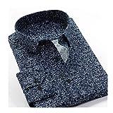 KAKAYO Camisa de Vestir de Negocios de Gran tamaño 8XL 9XL 10XL impresión Floral de Manga Larga de los Hombres de (Color : 226073, Size : 5XL 45)