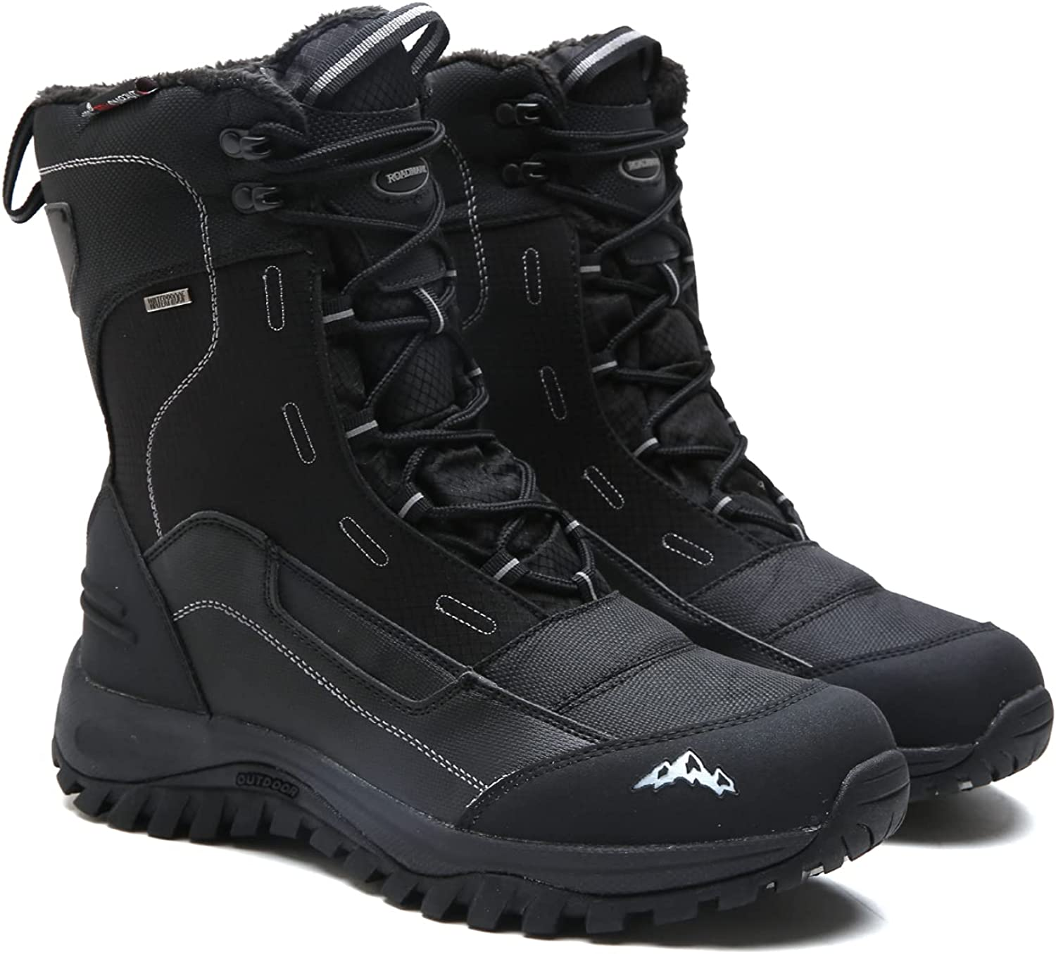 Men's Snow Boots Waterproof New Orleans Mall Insulated Hiking Rubber Black Winter Sale Special Price