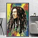 KWzEQ Imprimir en Lienzo Cantante Estrella en imágenes póster y Arte Decorativo para Sala de estar60x75cmPintura sin Marco