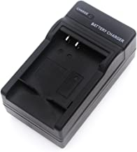 NP-BK1 Battery Charger for Sony Cyber-Shot DSC-S750, DSC-S780, DSC-S950, DSC-S980, DSC-W180, DSC-W190, DSC-W370, MHS-PM5, Webbie HD, Webbie MHS-PM1 Digital Camera and More with Foldable Plug