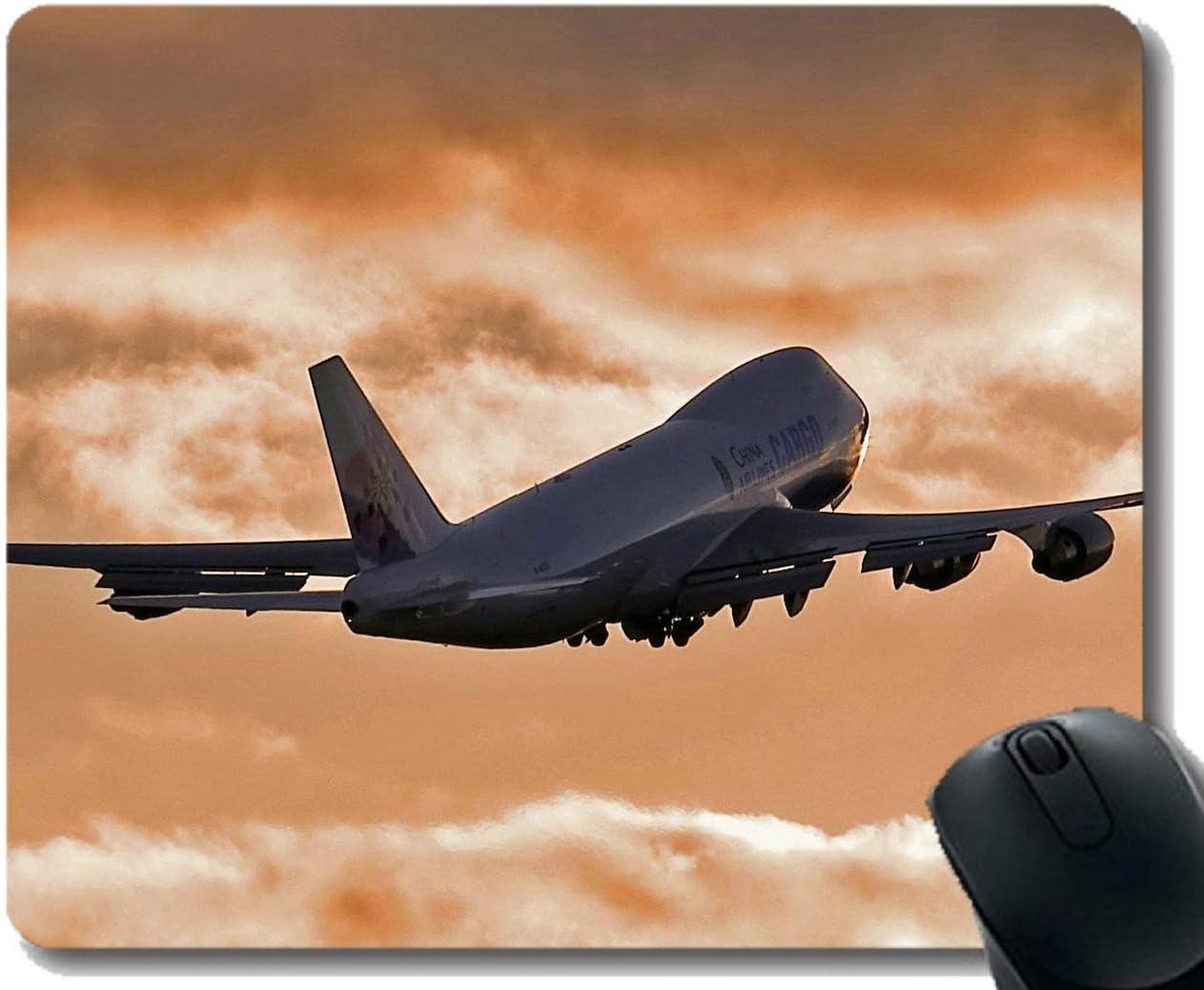 Yanteng Alfombrilla de ratón con Borde Cosido, portátil Boeing 747 Aviones Alfombrilla de ratón Gaming Mouse Pad