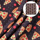 Lebensmittel-Pizza-Muster, bedruckt, Liverpool-Struktur,